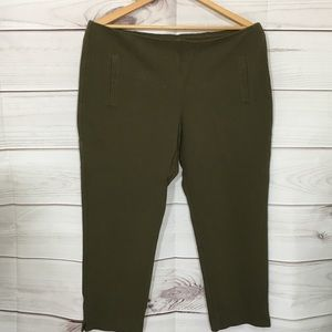 Chico's Olive Green Stretch Ankle Pants Size 3